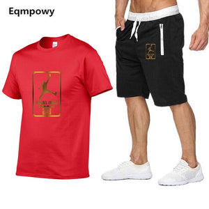 Nesa Fashion New  tracksuit men Two Piece short t-shirts+shorts  cool Sweatshirts Suit Male jogging Suit