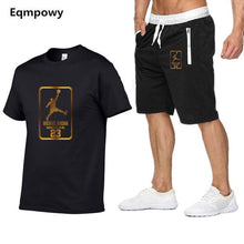 Load image into Gallery viewer, Nesa Fashion New  tracksuit men Two Piece short t-shirts+shorts  cool Sweatshirts Suit Male jogging Suit