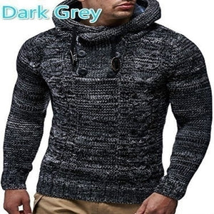 Nesa Fashion Knitted Men's Sweaters Blouse Long Sleeve Hooded Pullovers Sweater Men  Autumn Winter Plus Size Knitwear