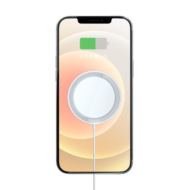 IPhone 12/Pro/Pro Max/mini用 15W対応マグネット式ワイヤレス充電器 高速充電 Magsafe充電器