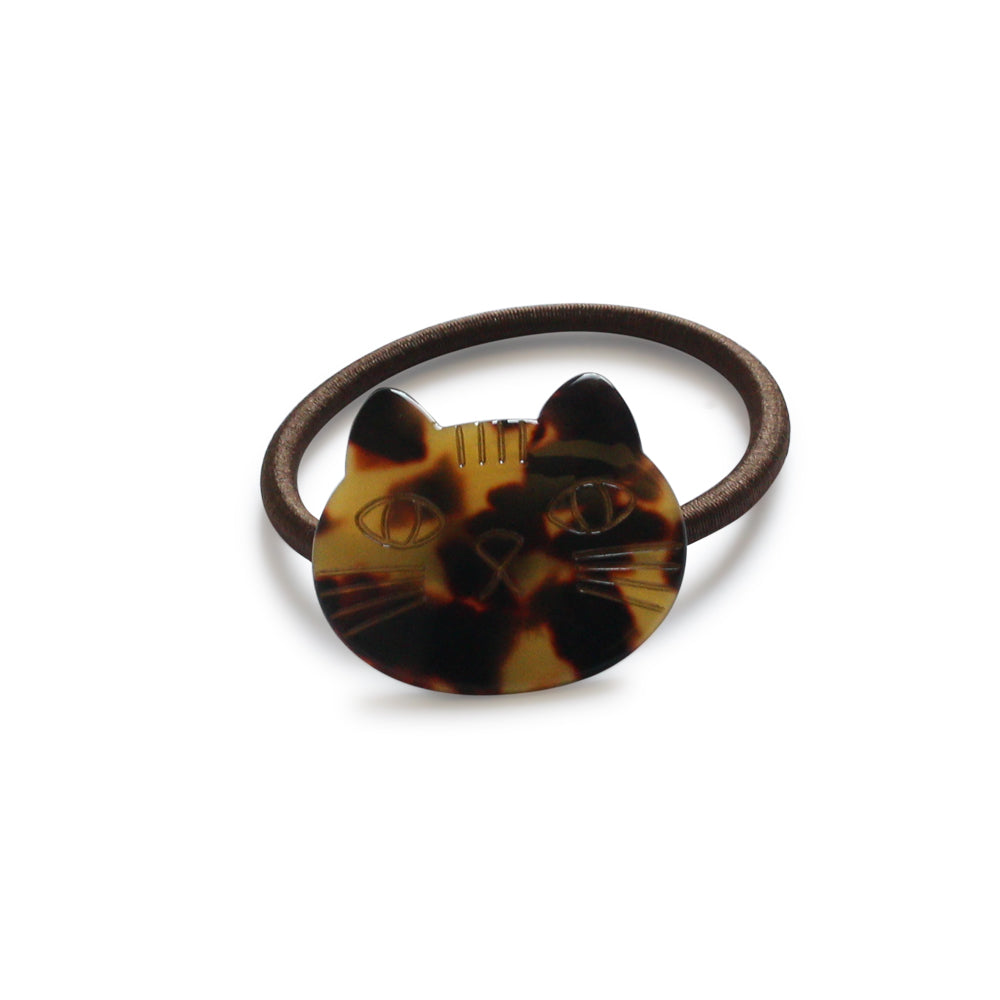 TORTOISE SHELL PUSSY CAT HAIR TIE