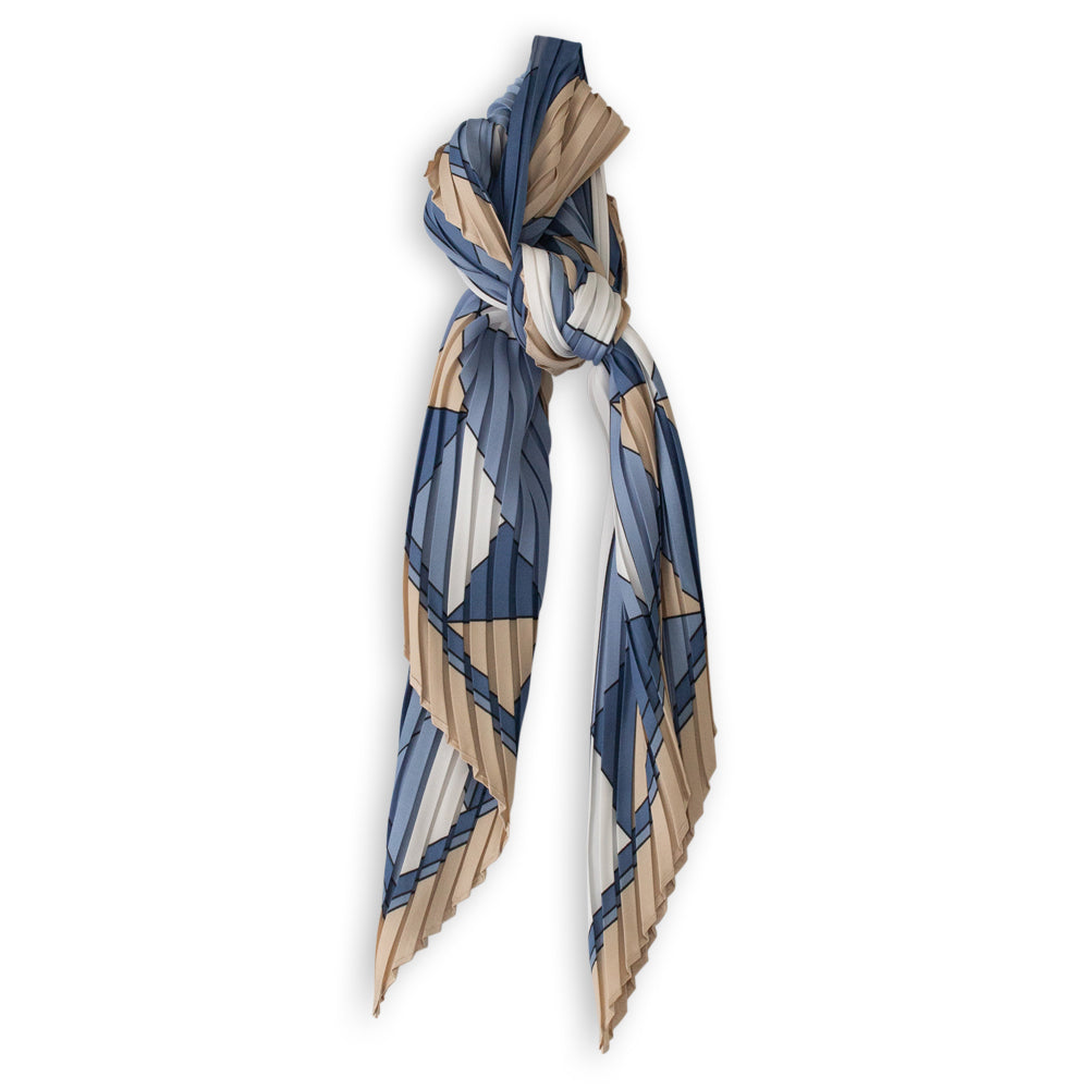 PERMANENT PLEATED SCARF