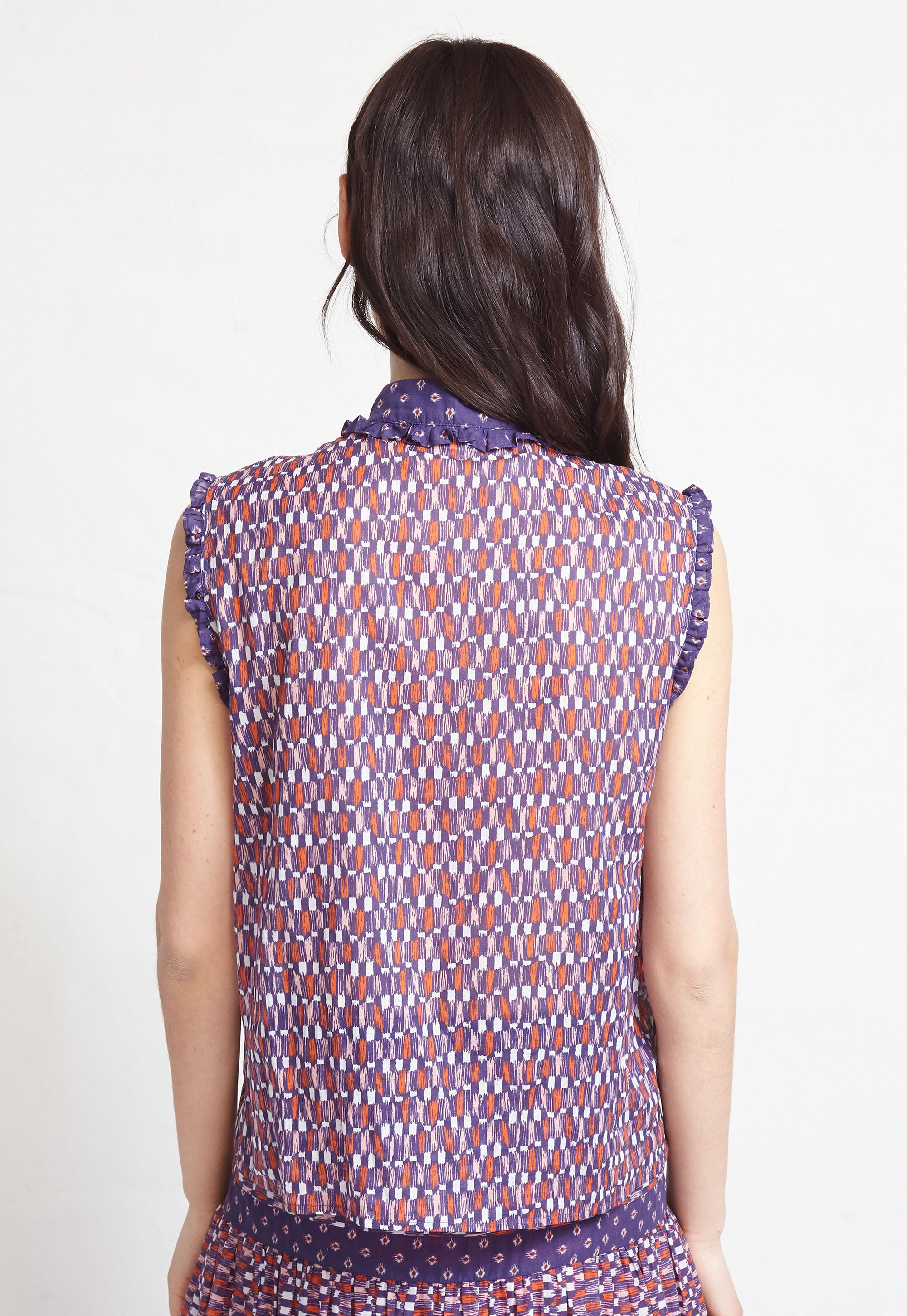 sleeveless ines blouse