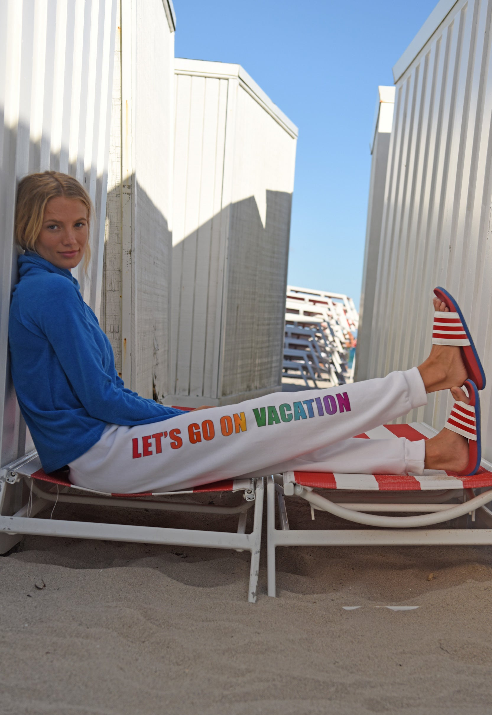 "Let's Go On Vacation ""chill"" sweatpant"