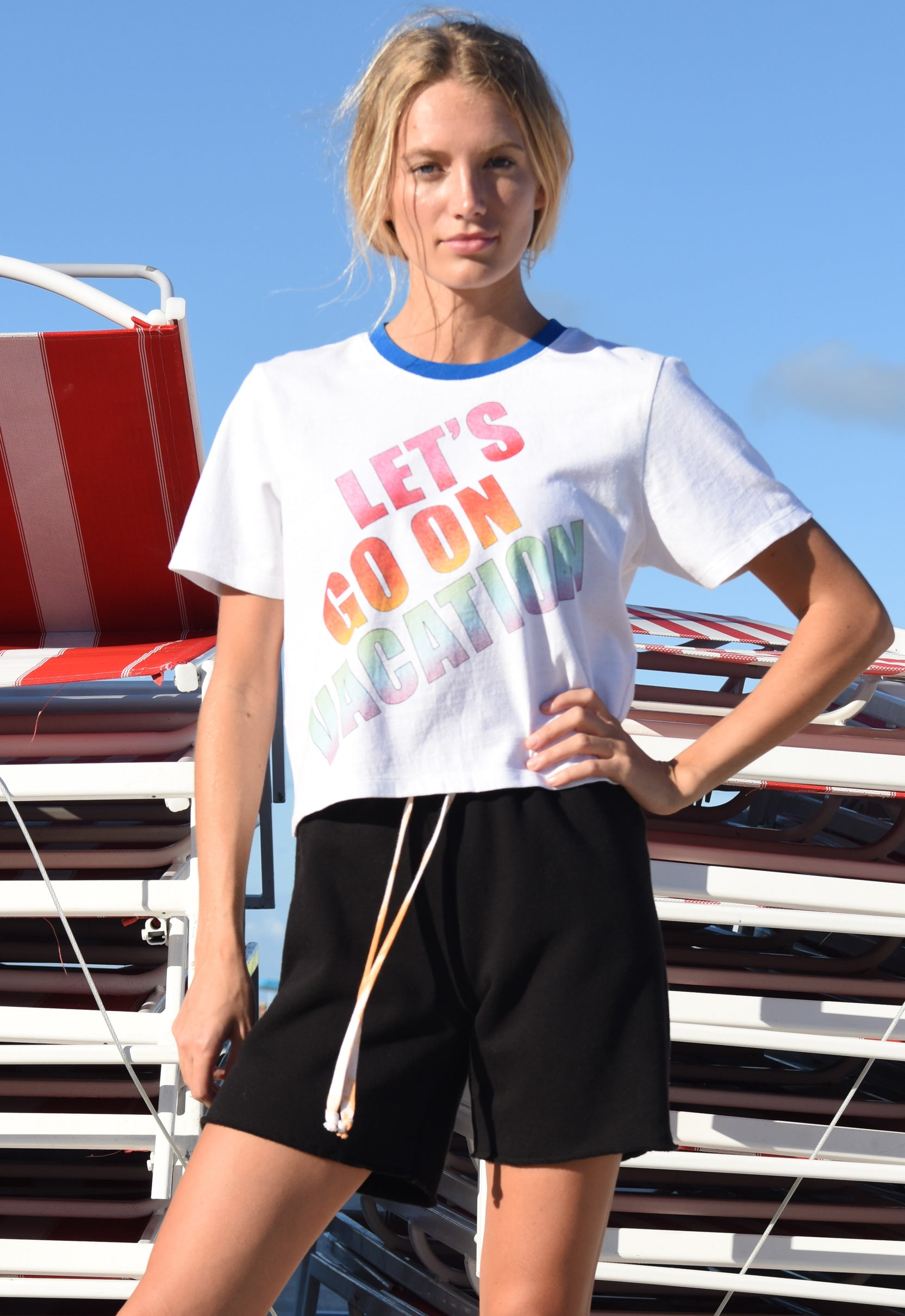 "Let's Go On Vacation ""tomboy"" T"