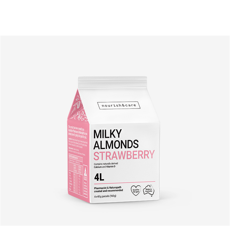 Strawberry almond milk