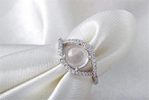 Romantic Opal Ring in Sterling Silver - Gem & Etc
