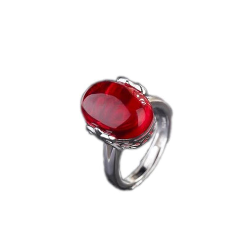 Classic Ring In Sterling Silver With a Choice Of Stone - Gem & Etc