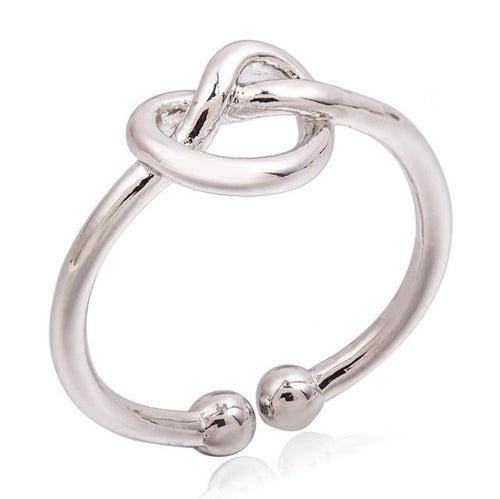 Simple Knot Open Adjustable Ring  for women - Gem & Etc