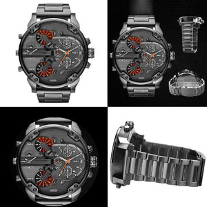 Fashion Analog Watch in Stainless Steel with Quartz Mechanism - Gem & Etc