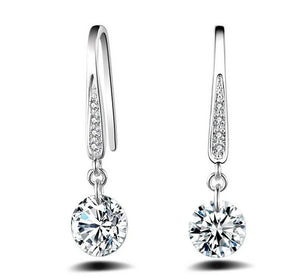 Sterling Silver Crystal Earrings - Gem & Etc