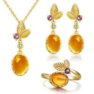 Sets in Sterling Silver with Natural Citrine stones - Gem & Etc