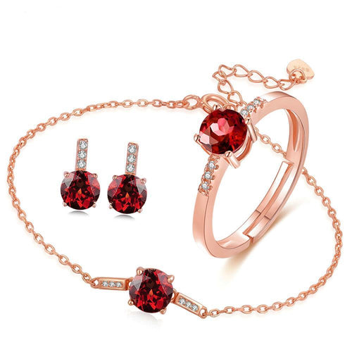 Red Garnet Groups of Jewels in Sterling Silver - Gem & Etc
