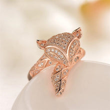 Ring Little Fox in Rose Gold Plated over Sterling Silver - Gem & Etc