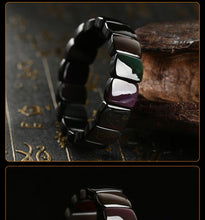 Natural Rainbow Obsidian Bracelet with Square Beads and High Polishing - Gem & Etc