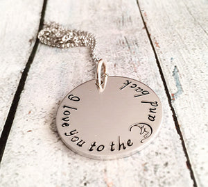 Love you to the moon and back - Hand stamped