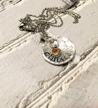 Load image into Gallery viewer, Name necklace - Hand stamped jewelry - Hand
