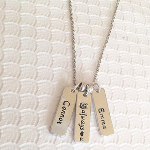 Mother's necklace - Hand stamped jewelry - Hand