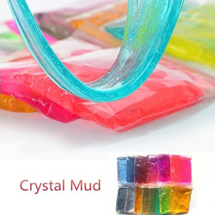 2pcs Kids toy Clay Slime DIY Crystal Mud Play Transparent Magic Plasticine Kid Toys drop shipping