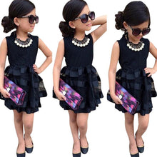 Load image into Gallery viewer, Sotida Girls Dresses Black 2017 Formal Princess Dress Baby Kids Girls Clothing Wedding Party Mesh Dresses Children Clothing