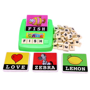 Alphabet Letters Figure Spelling Games Cards English Word Puzzle Children's Educational Literacy Fun Early Learning Toys Random