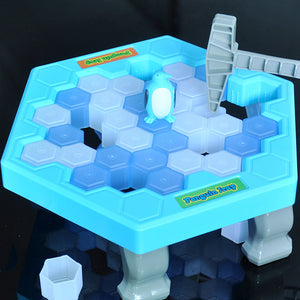 HOT Save Penguin Ice Kids Puzzle Game Break Ice Block Hammer Trap Party Toy