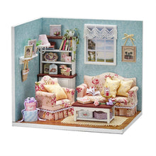 Load image into Gallery viewer, DIY Wooden Dolls house Miniature Kit  Kids Toy
