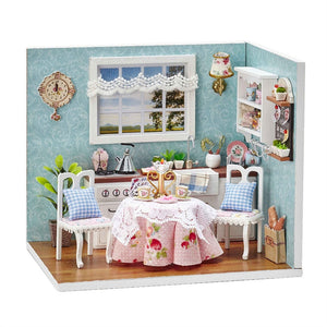 DIY Wooden Dolls house Miniature Kit  Kids Toy