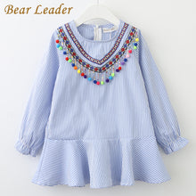 Load image into Gallery viewer, Bear Leader Girls Dress 2018 New Brand Spring Tassel Dress for Girl Striped Robe Fille Ruffles Full Petal Sleeve Kids Clothing