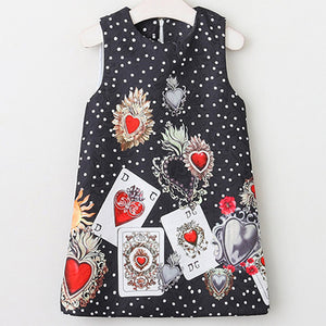 Bear Leader Girls Dresses 2018 New Brand Princess Girl Clothing Pattern Printing Sleeveless Baby Girls Party Dress For 3-8 Years