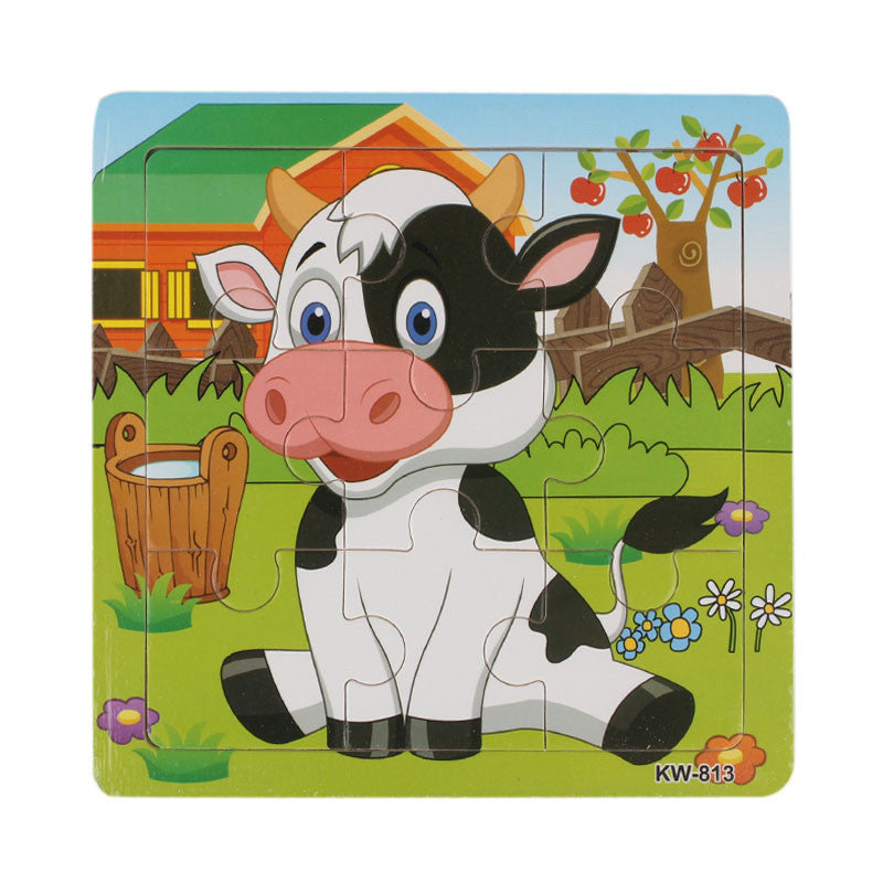 Wooden Dairy Cow Jigsaw Toys For Kids Education And Learning Puzzles Toys