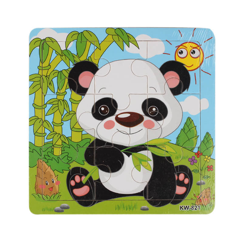 Wooden Panda Jigsaw Toys For Kids Education And Learning Puzzles Toys