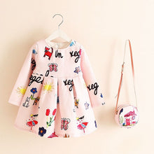 Load image into Gallery viewer, Girls Dress Unicorn Party Children Clothing Princess Dress with Bag 2018 Baby Clothes Kids Flower Dresses for Girls Costumes