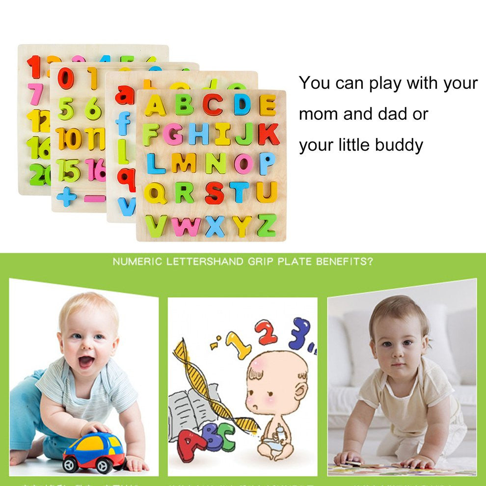 Environmental Friendly Wooden Children Baby Kids Learning Educational Toys Puzzle Early Education Letter Learning Toys