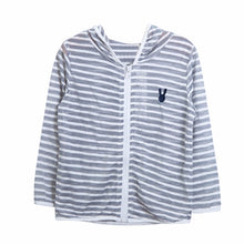 Load image into Gallery viewer, Kids Children Striped Hooded Jacket Breathable Tops Sun Protection Clothes