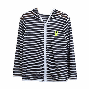 Kids Children Striped Hooded Jacket Breathable Tops Sun Protection Clothes