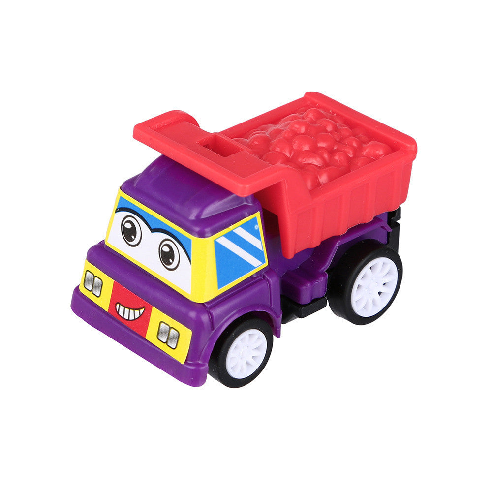 6PC Baby Kids Cute Twist Forward Movement Engineering Car Educational Toys