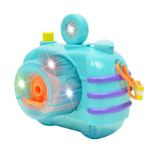Load image into Gallery viewer, Kids Cartoon Camera Bubble Maker Machine Light and Music Bubble Making Toy for Children