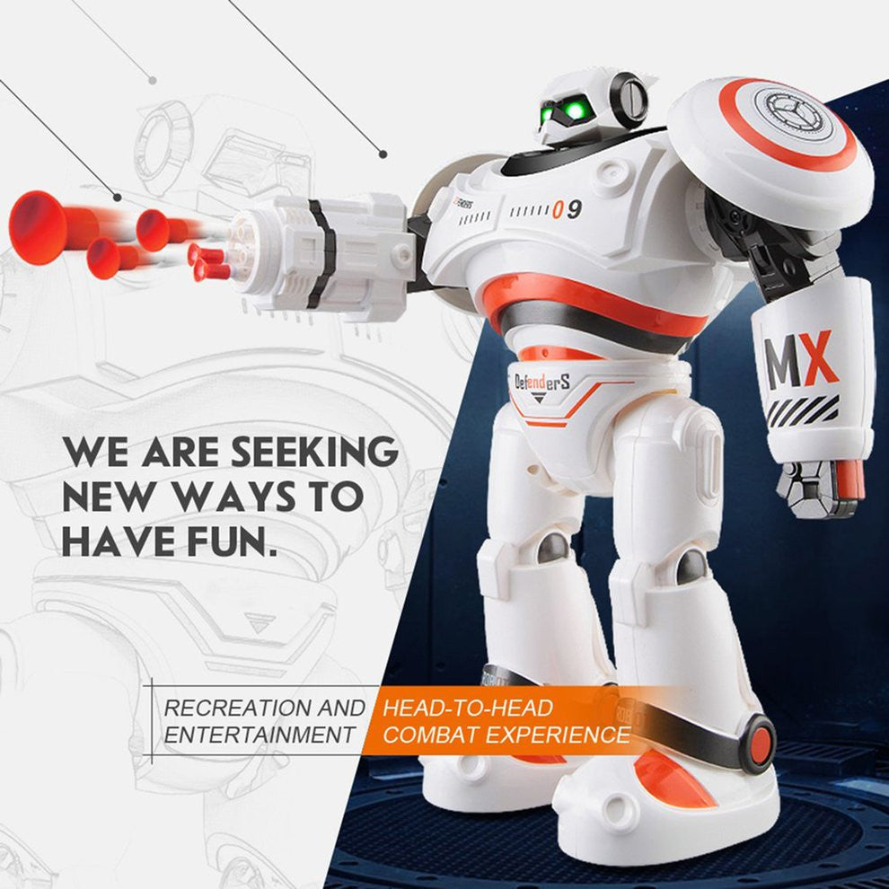 R1 Intelligent RC Robot Programmable Walking Dancing Combat Defenders Armor Battle Robot Remote Control Toy For Child