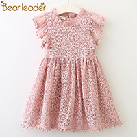 Load image into Gallery viewer, Bear Leader Girls Dress 2018 New Summer Brand Girls Clothes Lace And Ball Design Baby Girls Dress Party Dress For 3-7 Years