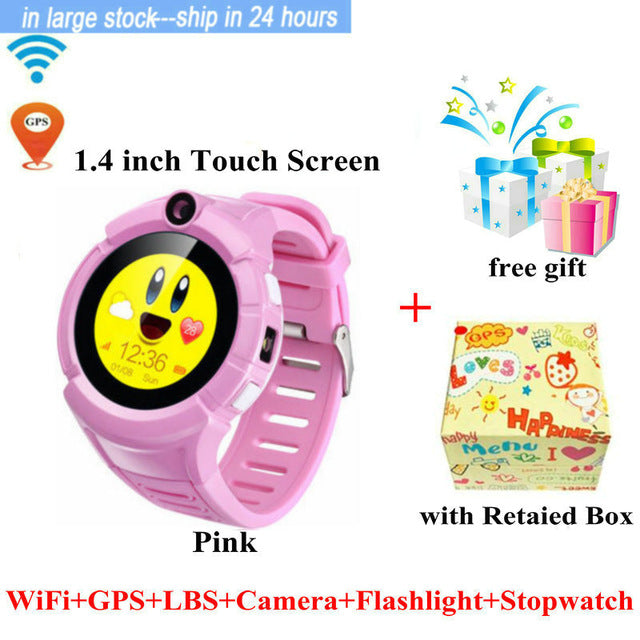 Q360 Child smartwatch GPS WIFI Location SOS Anti-Lost Monitor Tracker baby WristWatch with Camera PK Q528 Clock Kid Smart Watch