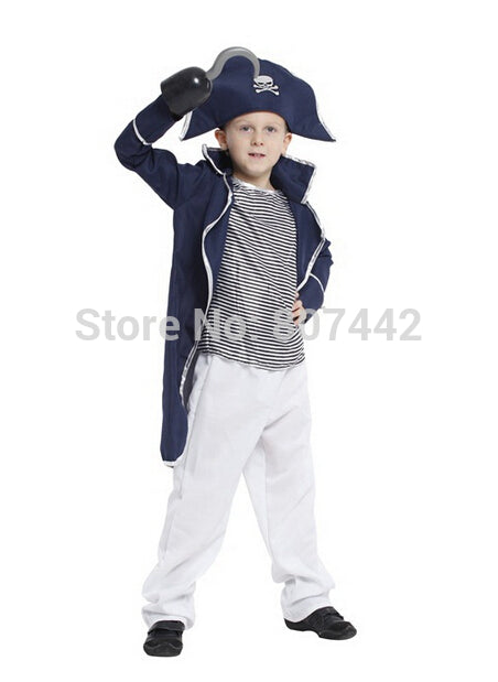 Costume the  Hooker clothes children masquerade performance clothing blue and white small Hooker