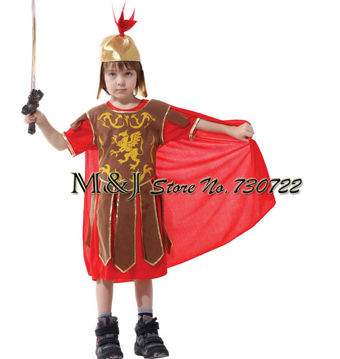 Free shipping!!Small boy Roman soldier Halloween cosplay ACTS the role of the king princes performance clothing carnival