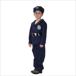 Hot Selling New Halloween Cosplay Boys Small Policeman Performance Suit Handsome British Military Uniform Clothing