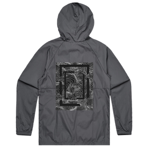 Square   Water Resistant Windbreaker in Charcoal / XXL by Buff Diss