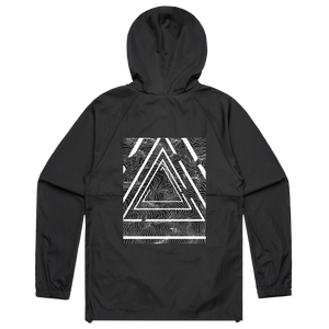 Triangle   Water Resistant Windbreaker in Black / XXL by Buff Diss