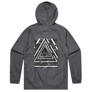 Triangle   Water Resistant Windbreaker in Charcoal / XXL by Buff Diss