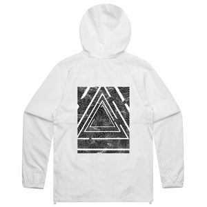 Triangle   Water Resistant Windbreaker in White / XXL by Buff Diss