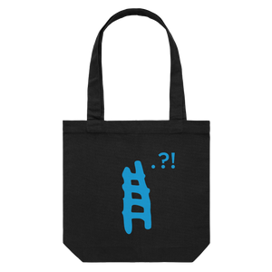 Ladder   43 X 43 CM Tote Bag in Black by erinswindow