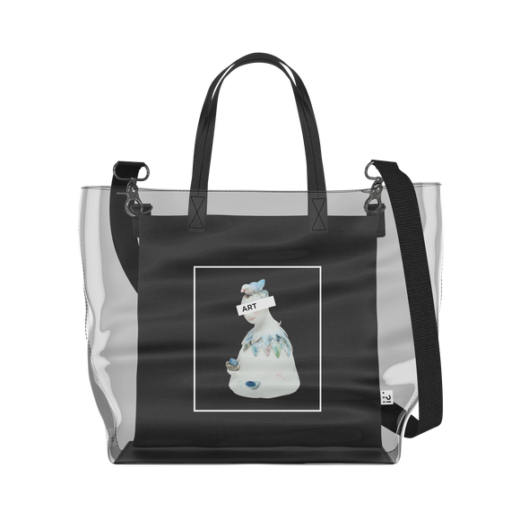 Bell People   Clear Tote Bag in Clear / Black by erinswindow